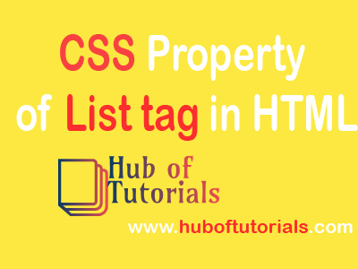 CSS Property of List tag in HTML
