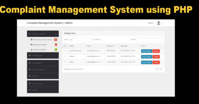 Complaint-Management-System-using-PHP