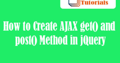 How to Create AJAX get() and post() Method in jQuery