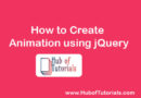 How to Create Animation using jQuery