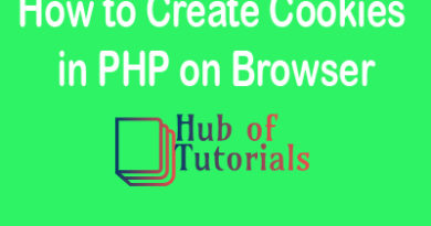 How to Create Cookies in PHP on Browser