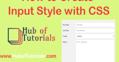 How to Create Input Style with CSS