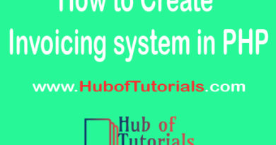 How to Create Invoicing system in PHP