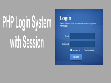 How to Create Login system in PHP Using Session