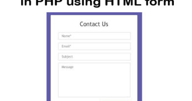 How to Create mail System in PHP using HTML form