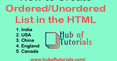 How to Create ordered or unordered List in the HTML