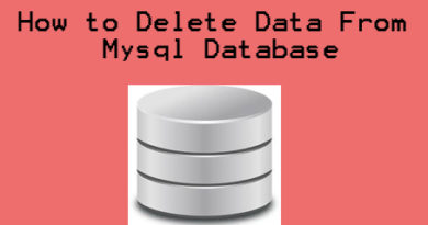 How to Delete Data From Mysql Database
