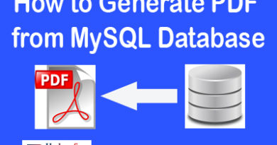 How to Generate PDF from MySQL Database