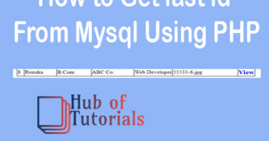 How to Get last id From Mysql Using PHP