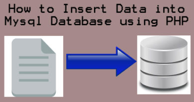 How to Insert Data into Mysql Database using PHP