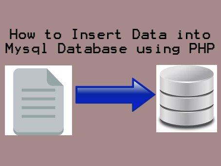 How to Insert Data into Mysql Database using PHP
