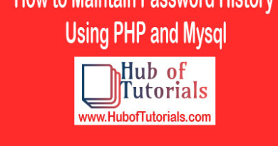 How to Maintain Password History Using PHP and Mysql