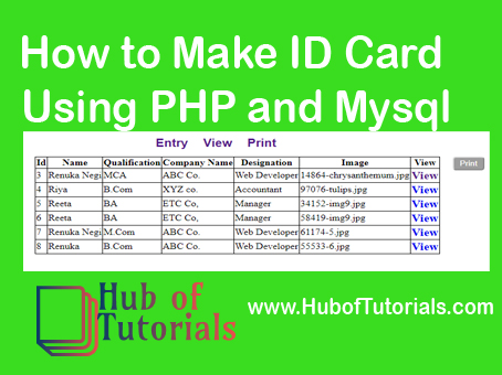 How to Make ID Card Using PHP Mysql and HTML