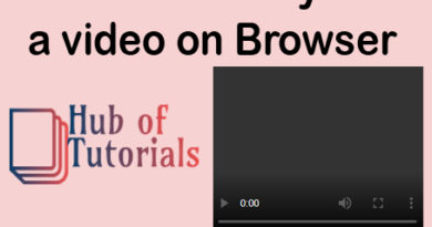 How to Play a video on Browser