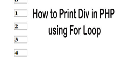 How to Print Div in PHP using For Loop
