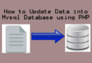How to Update Data into Database using PHP