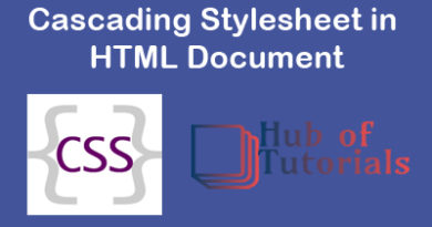 How to Use Cascading Stylesheet in HTML Document