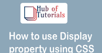 How to use Display property using CSS