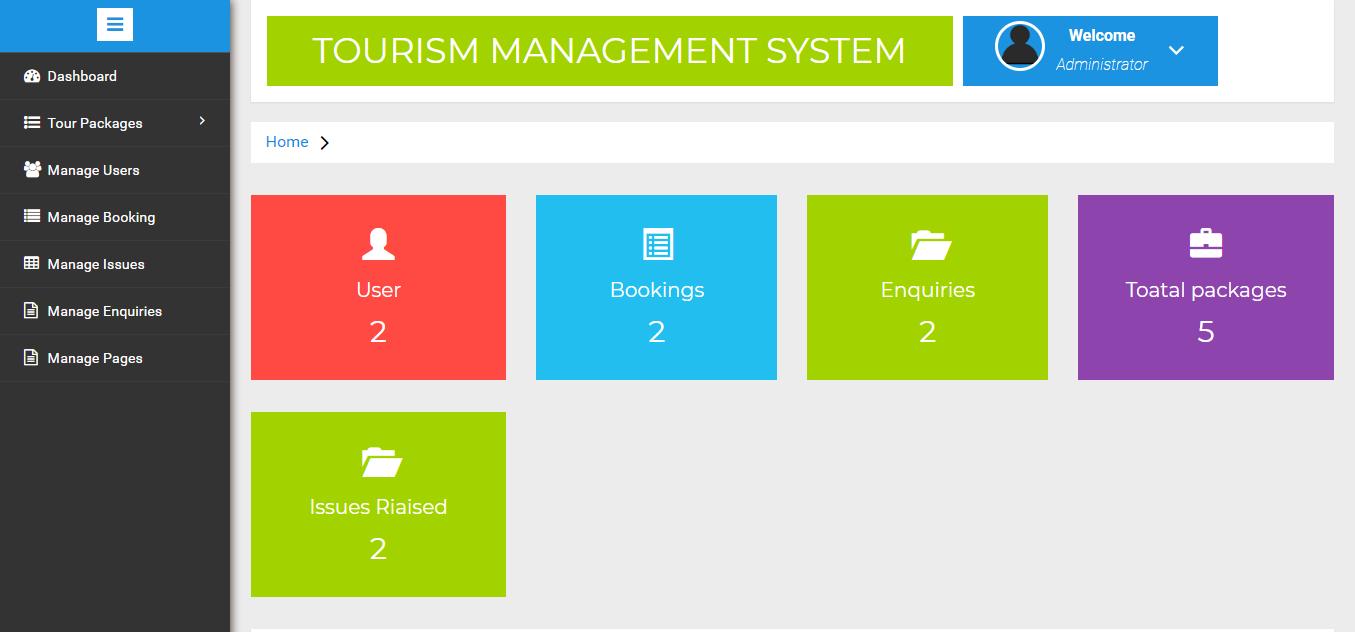 Tourism-Management-System