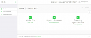 User Dashboard - HMS